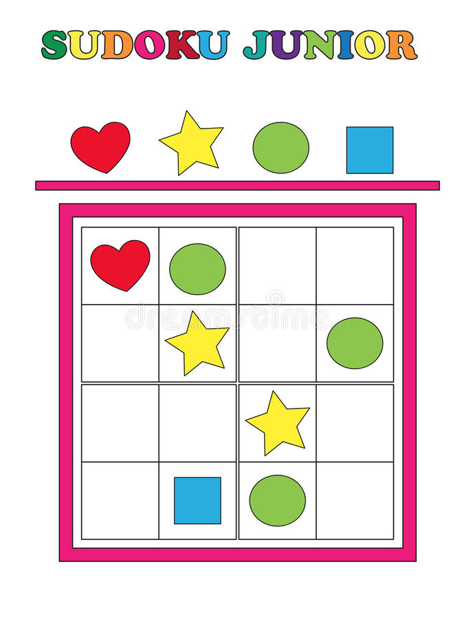 Junior de Sudoku illustration de vecteur