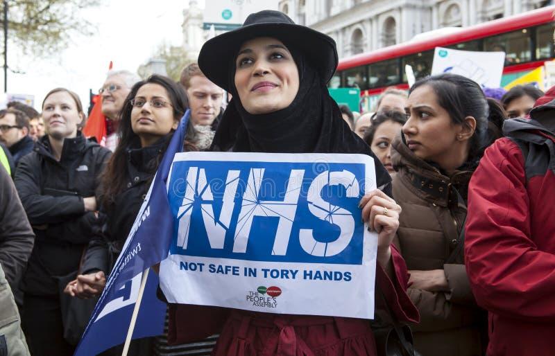 Junior Doctors March på Downing Street arkivbilder