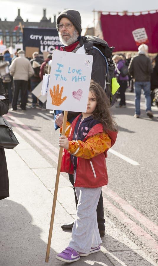 Junior Doctors March sul Downing Street immagine stock libera da diritti