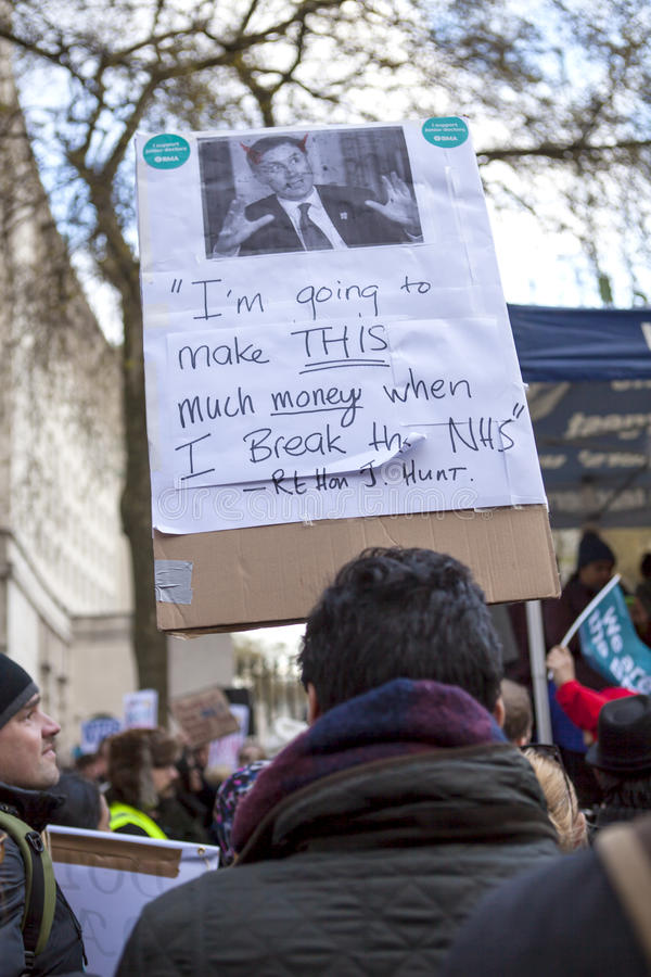 Junior Doctors March sul Downing Street fotografie stock