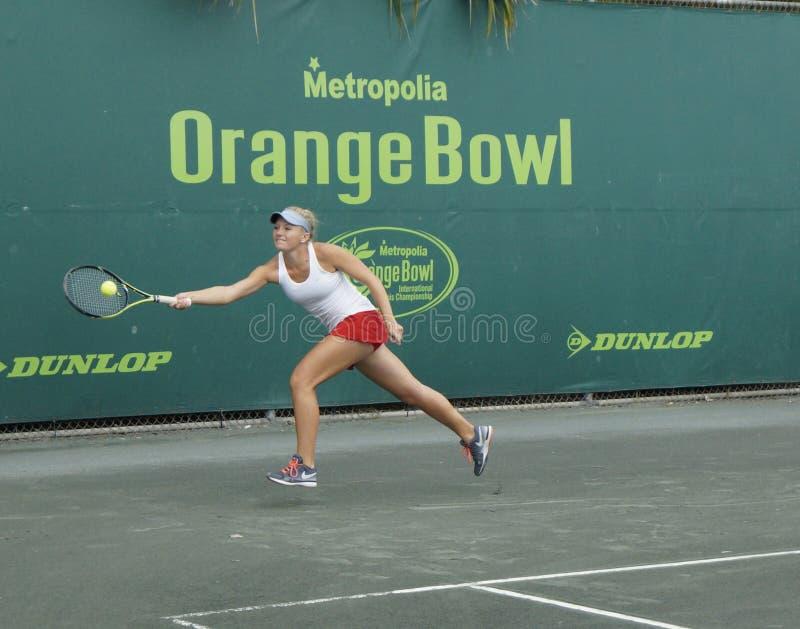 Junior Ladies Tennis Tournament royaltyfria bilder