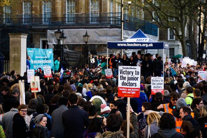 Junior lekarki protesta plakat obrazy royalty free