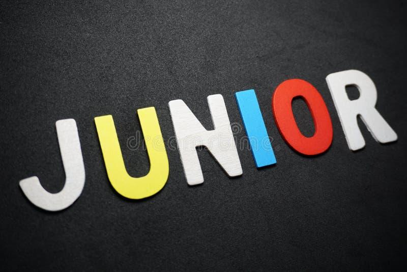 Junior na czarnym tle zdjęcie stock