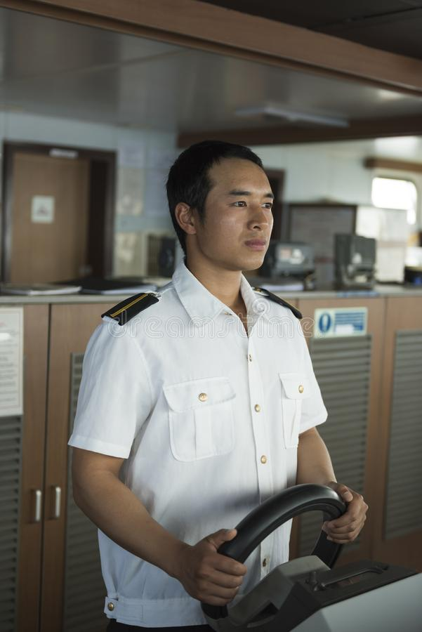 Navigation at Sea stock image  Image of portrait, officer