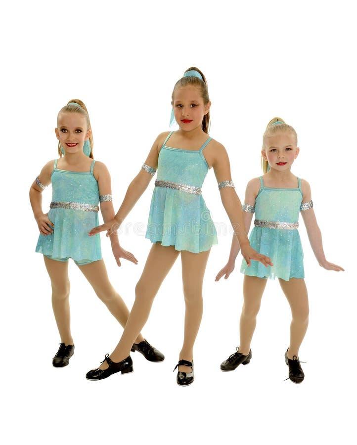 Junior Tap Dance Trio arkivbilder