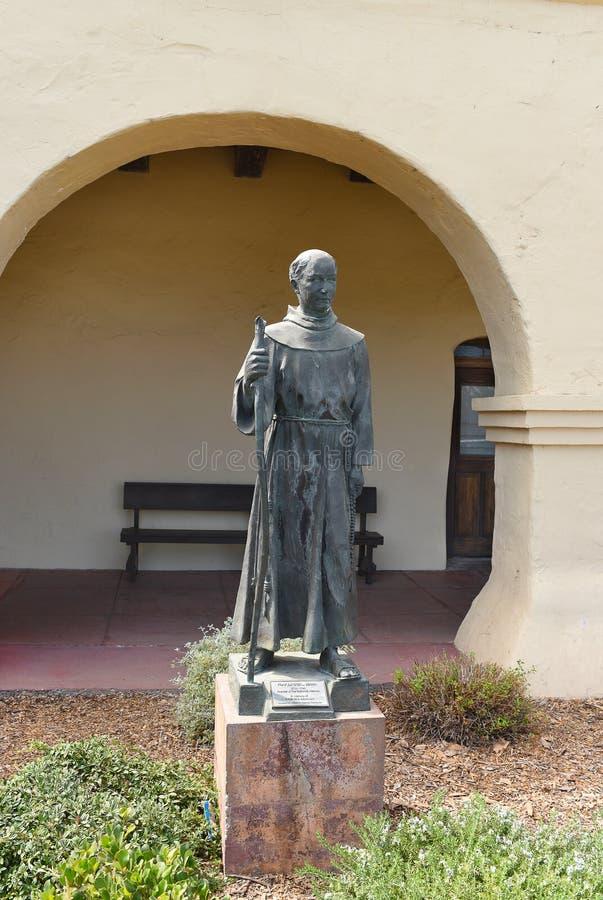 Junipero Serra Statue Santa Ines Mission photo libre de droits