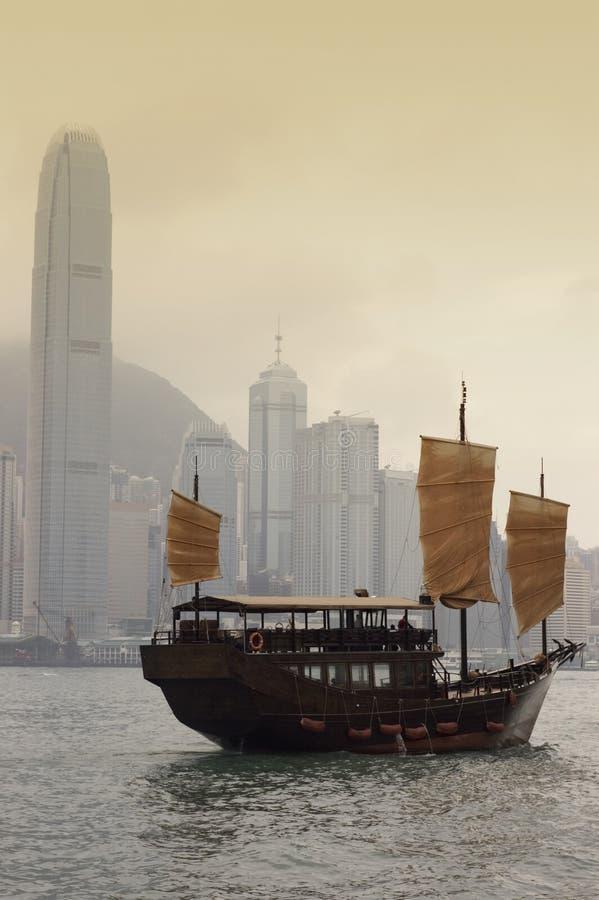 Junk boat. Hong kong