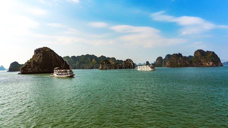 Junk Boats , Halong Bay, Vietnam stock photo