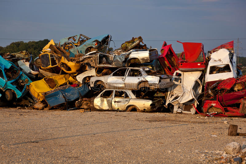 Download Junk Cars On Junkyard Stock Photos - Image: 15055903