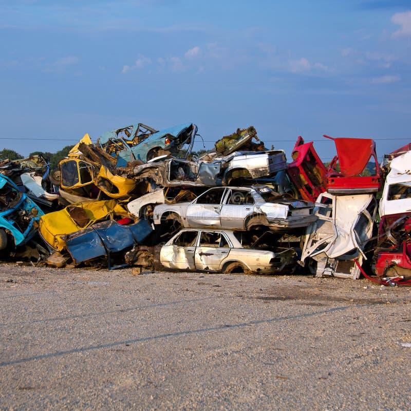Download Junk Cars On Junkyard stock image. Image of industry - 17659307