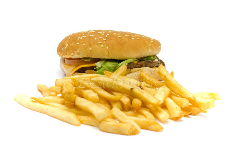 Junk Food stock image