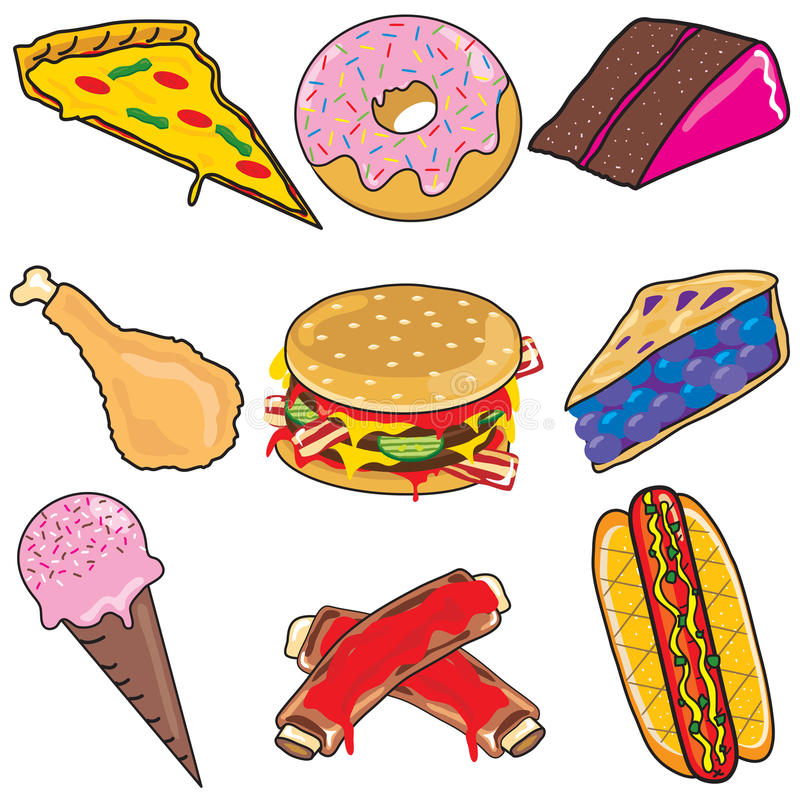 junk food clipart elements and icons stock vector illustration of rh dreamstime com no junk food clipart animated junk food clipart