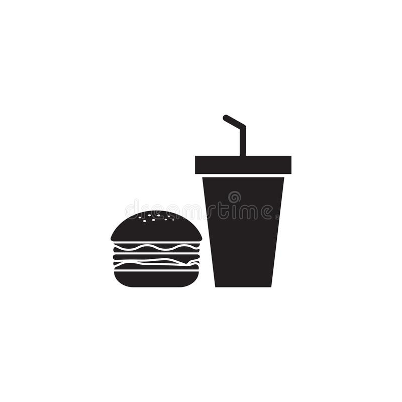 Junk food icon design template vector illustration isolated royalty free illustration