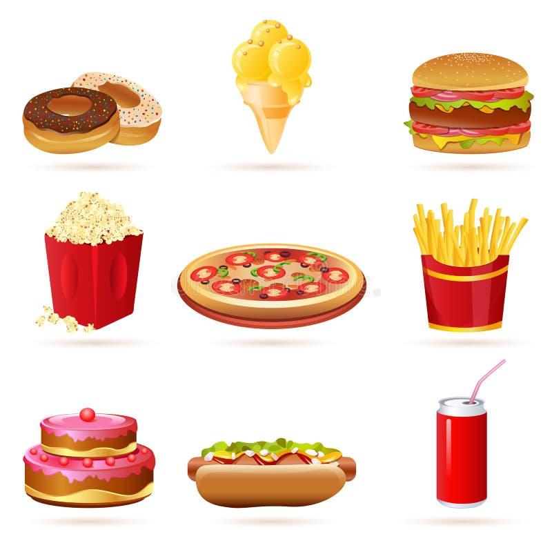 Junk Food Icons Royalty Free Stock Photos