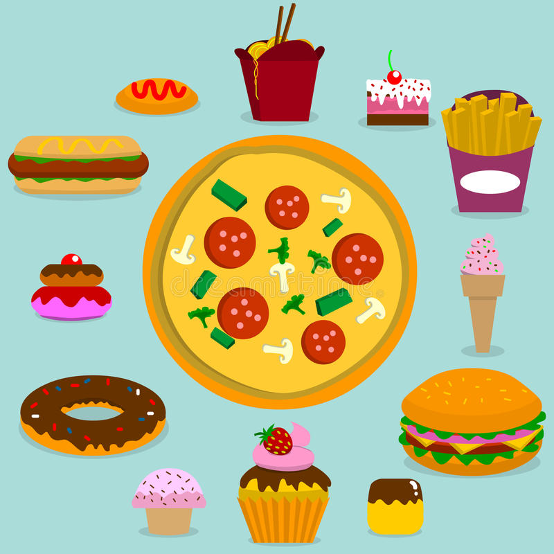 Junk food royalty free illustration