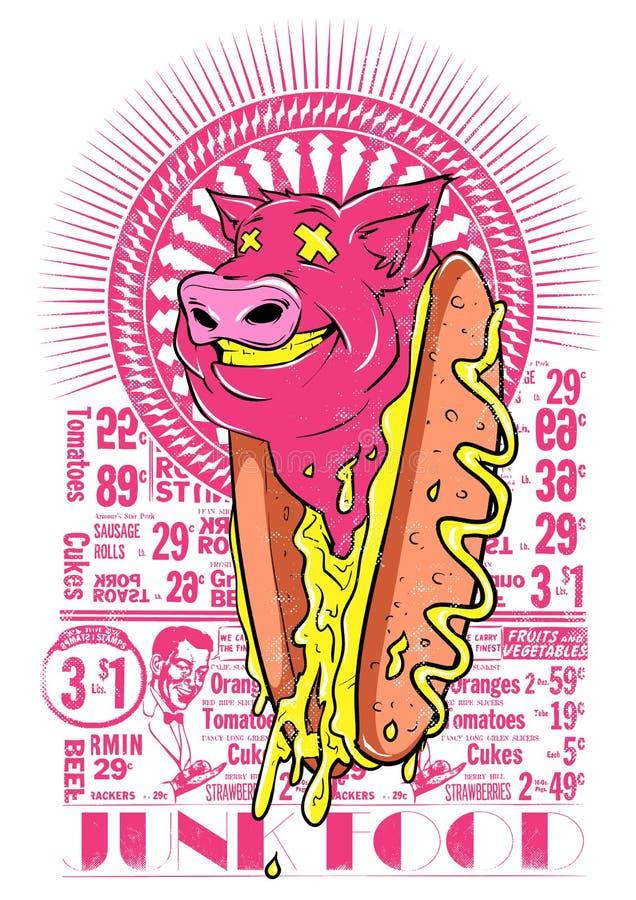 Junk Food stock illustration