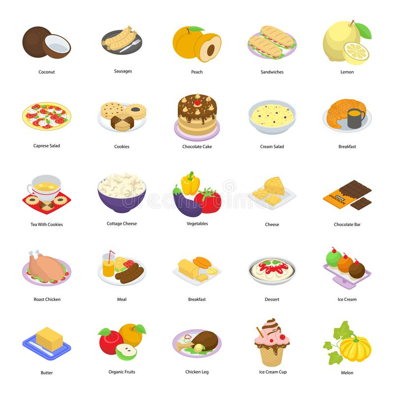Junk Food Vectors Set. Here is a pack of fast food icons, having delightful and mouth watering imagery visuals icons that are editable and modify as per your royalty free illustration