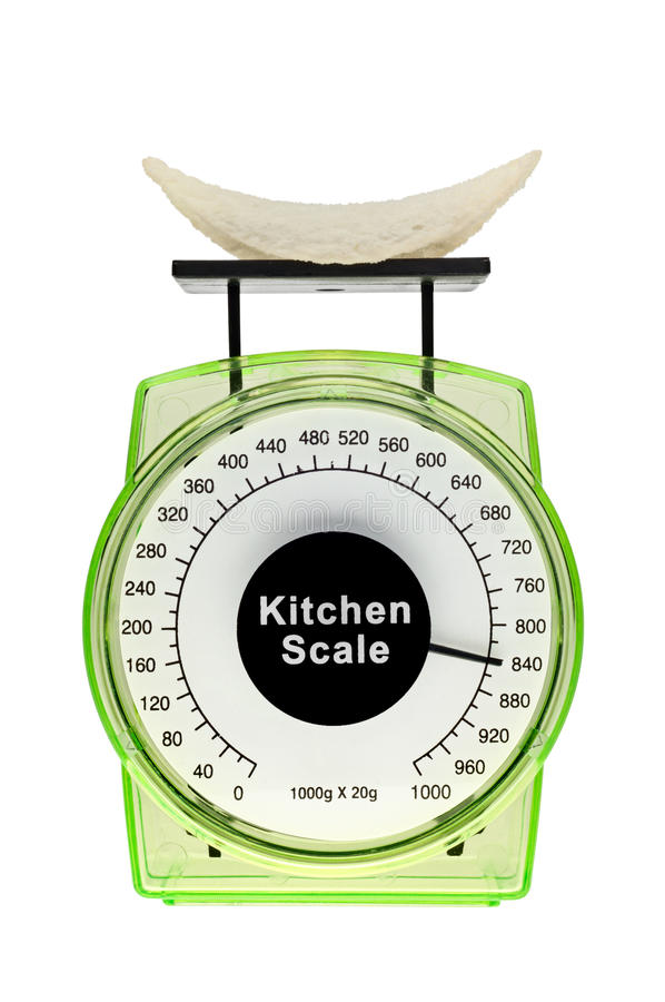 Junk food weigh more than looks. royalty free stock photos