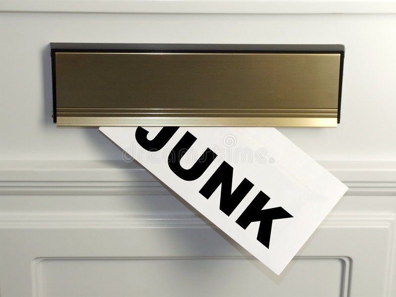 Junk Mail. An unwelcome delivery - Junk mail arrives in the post