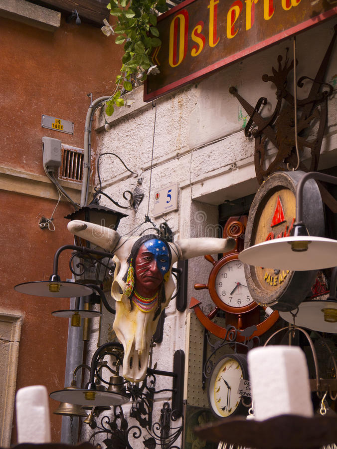 Download Junk Shop At Malcesine On Lake Garda In Northern Italy Editorial Photography - Image: 39350712