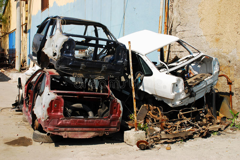 Download Junk Yard stock photo. Image of accident, brown, cracked - 14628062