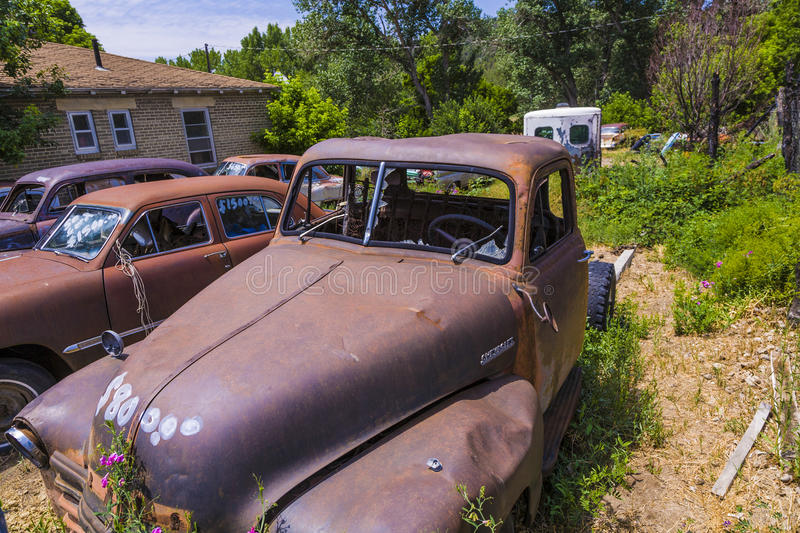 Junk yard with old beautiful royalty free stock photos