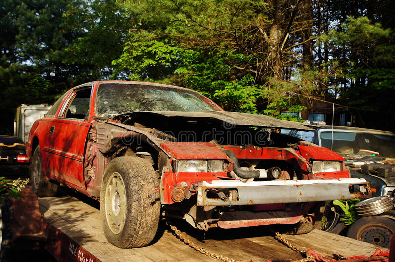 Junk Z Car Royalty Free Stock Image