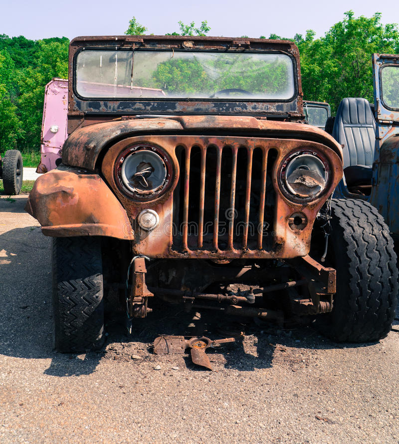 Junker do vintage caminhão 4 x 4 foto de stock