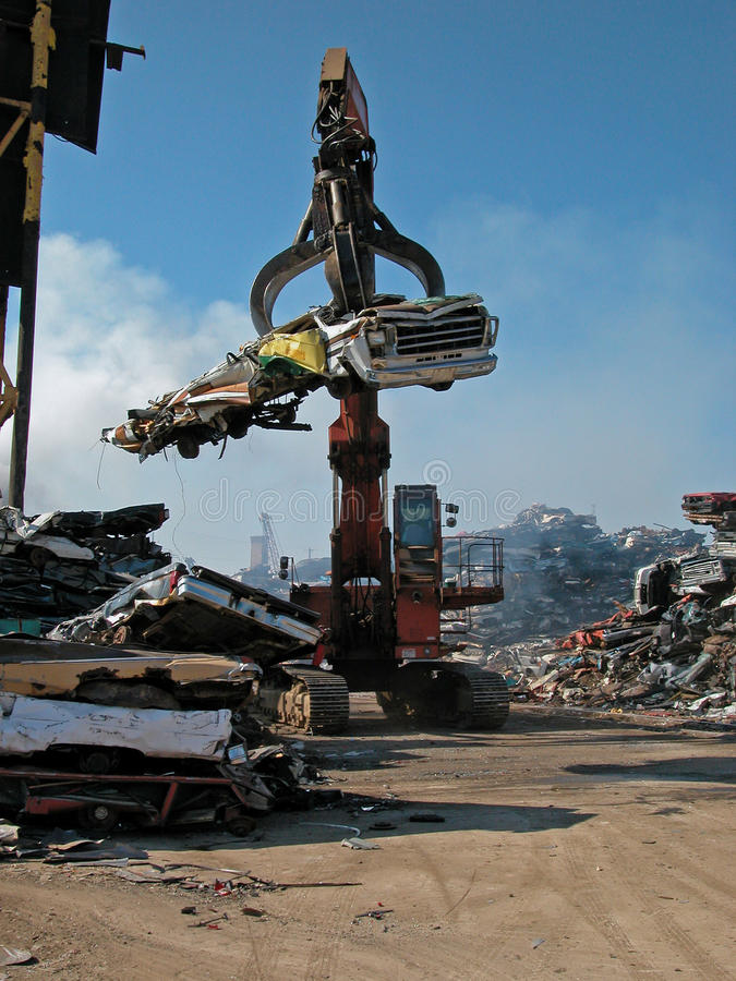 Junkyard claw stock images