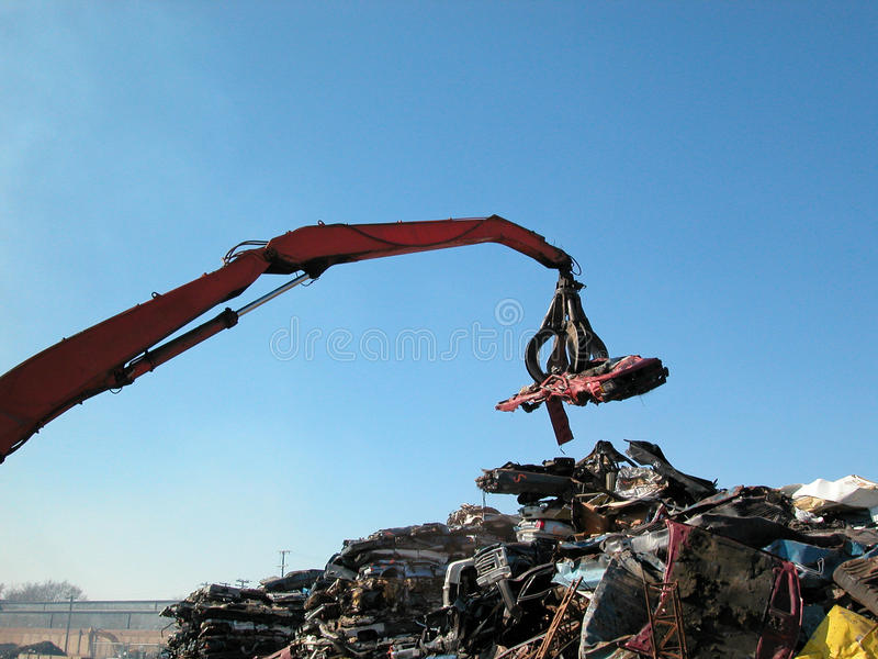 Junkyard claw royalty free stock photo