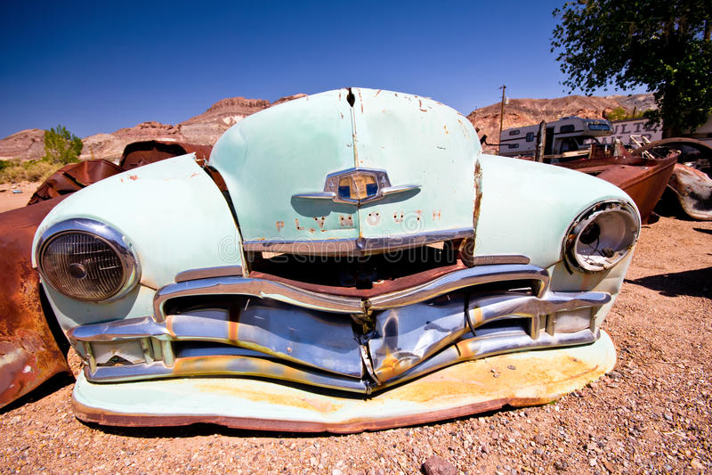 Junkyard de Beatty Nevada images stock
