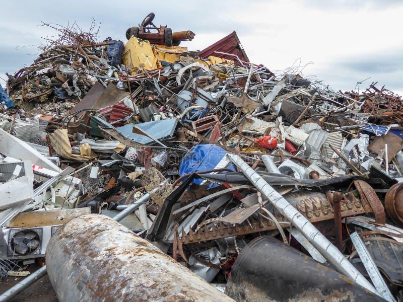 Junkyard. Heap, pile. Metal scrap royalty free stock photography