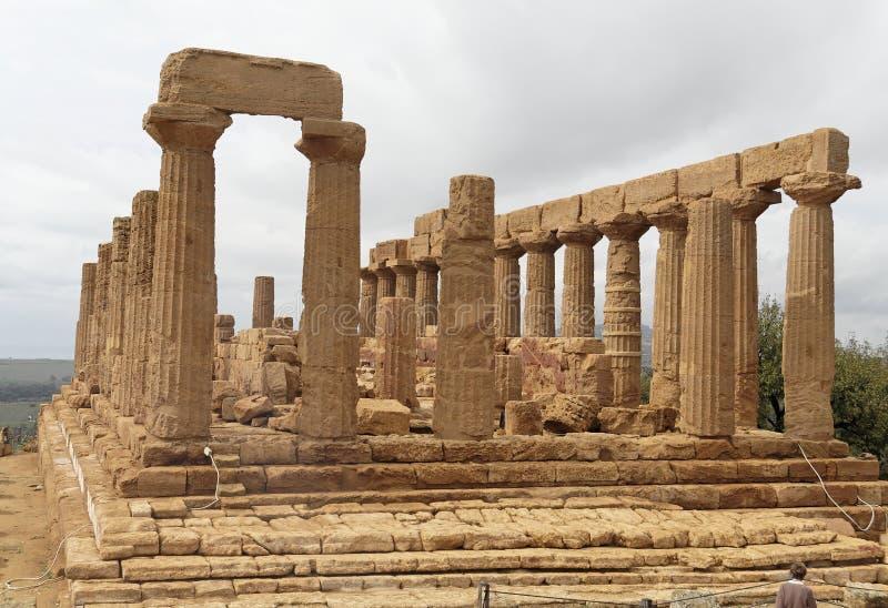juno agrigento świątyni obraz royalty free