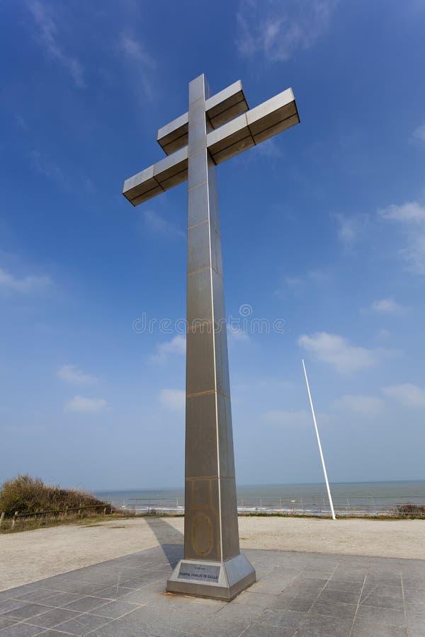 Juno beach, Courseulles-sur-Mer. Normandy, France stock photography