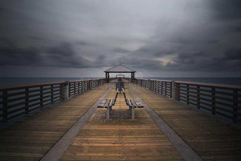 Juno Beach Pier fotografie stock