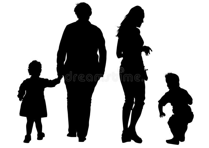 Junta al niño cuatro de la pizca stock de ilustración