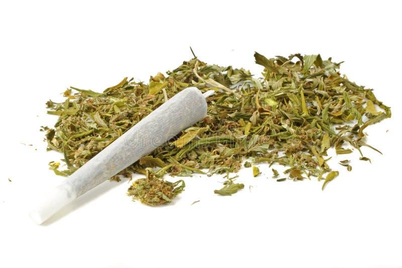 Junta de la marijuana con marijuana fotos de archivo
