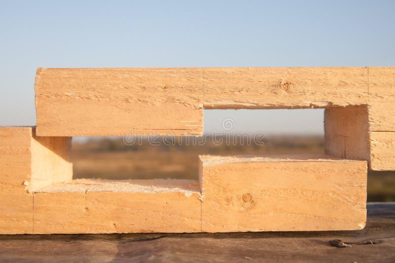 Junta de madera imagen de archivo