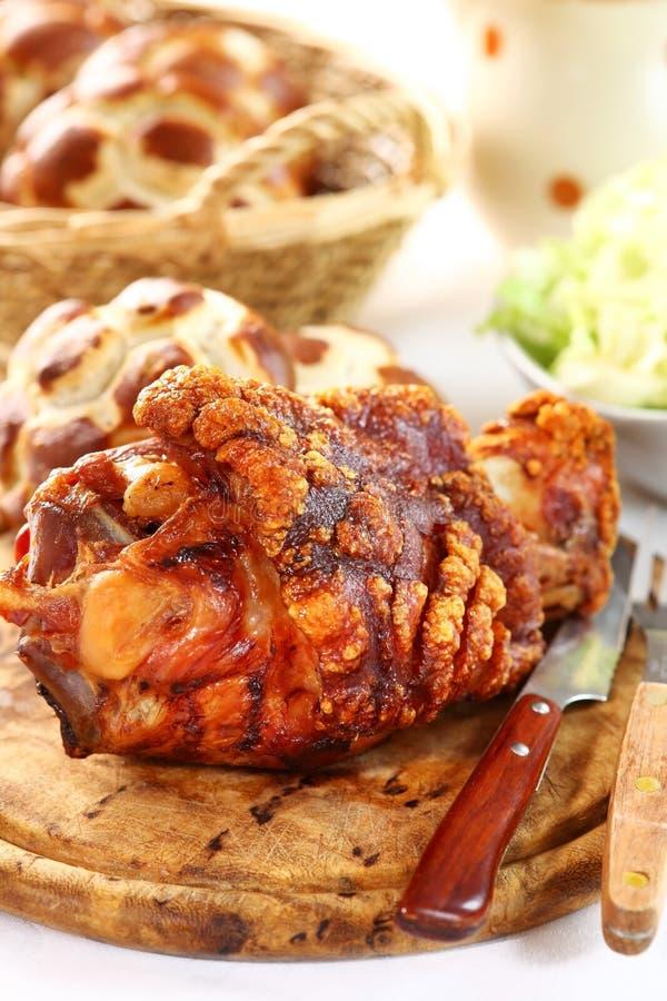 Junta grelhada da carne de porco imagens de stock