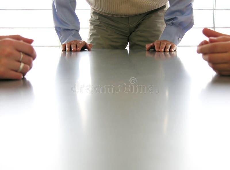 Juntando-se à reunião imagem de stock