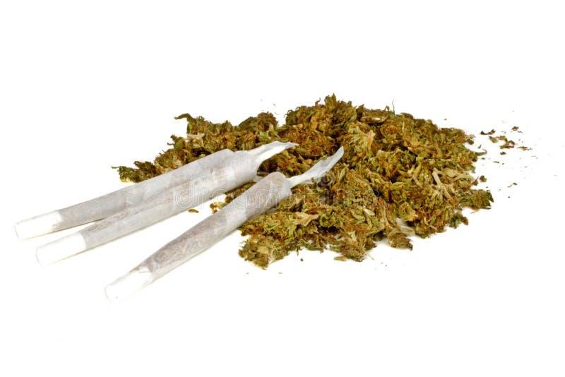 Juntas de la marijuana con marijuana foto de archivo libre de regalías
