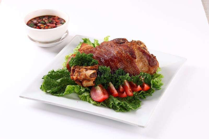 Juntas fritadas da carne de porco imagem de stock