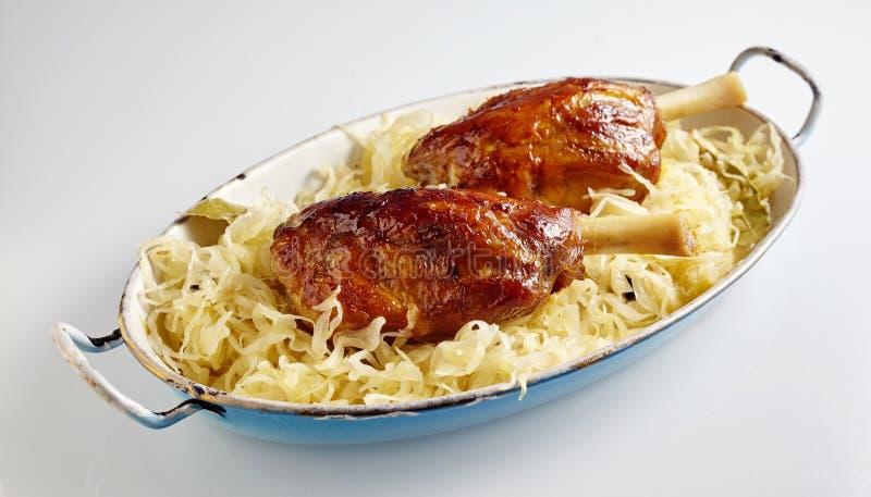 Juntas vitrificadas roasted deliciosas da carne de porco foto de stock