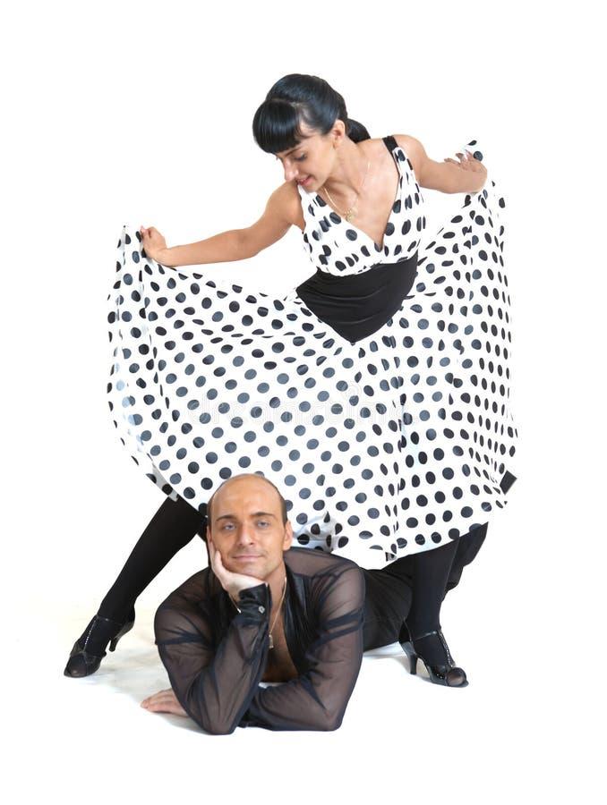 Junte el estilo de Latina de los bailarines imagen de archivo libre de regalías