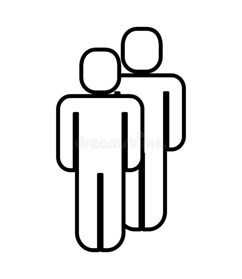 Junte la figura silueta humana libre illustration