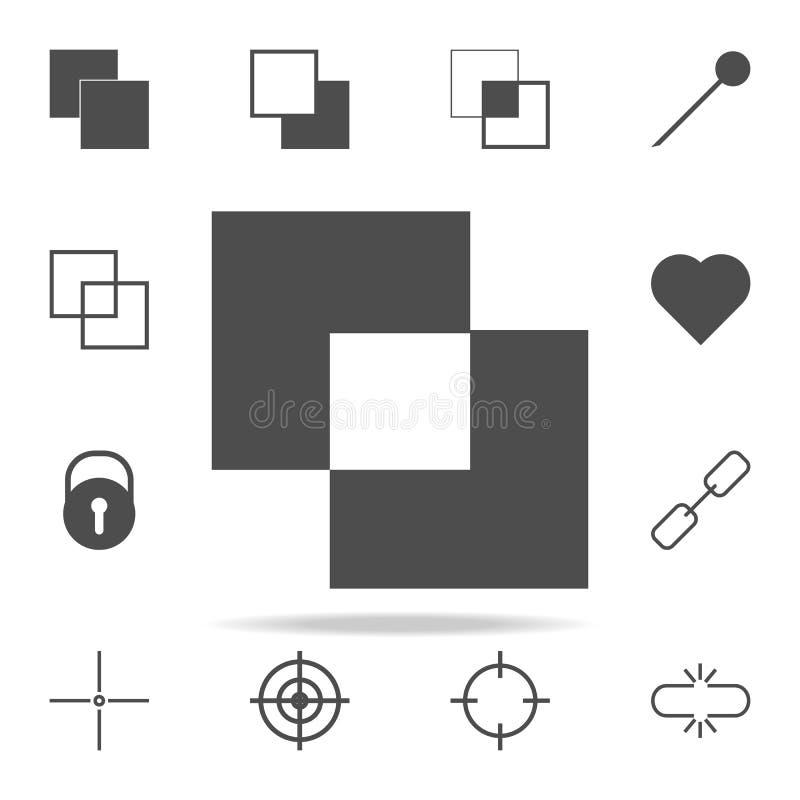 junte-se ao ícone das camadas grupo universal dos ícones da Web para a Web e o móbil ilustração stock