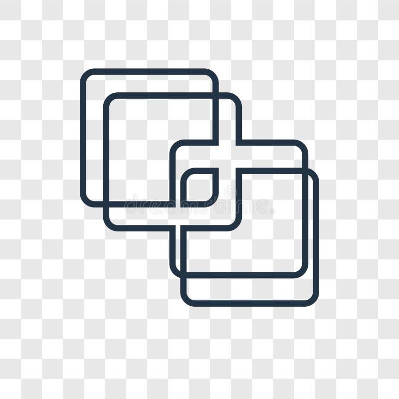 Junte-se ao ícone linear do vetor do conceito isolado no backgrou transparente ilustração stock