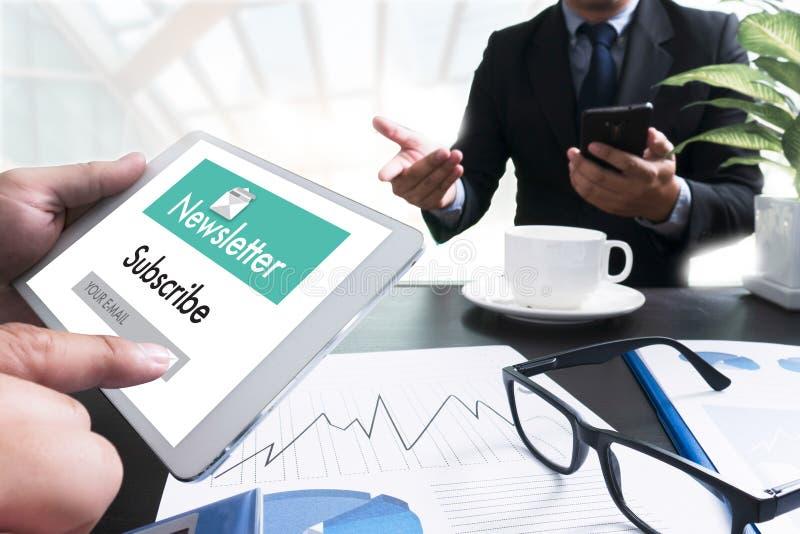 Junte-se ao boletim de notícias do registro à informação da atualização e subscreva-se o registro fotos de stock royalty free