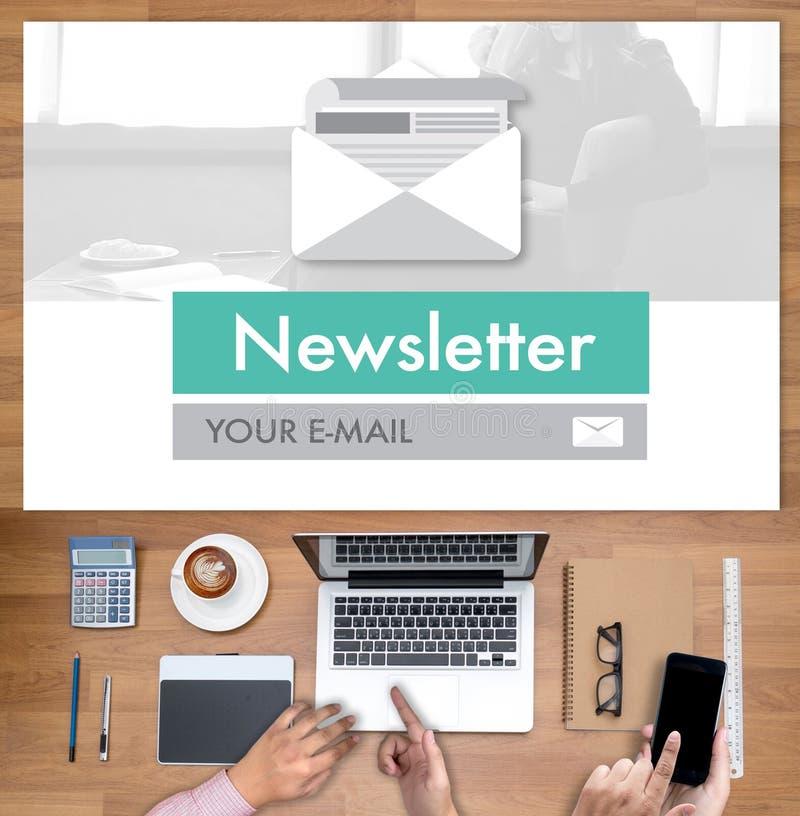 Junte-se ao boletim de notícias do registro à informação da atualização e subscreva-se o registro foto de stock royalty free