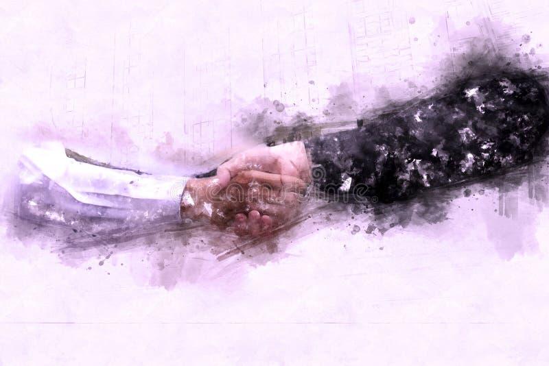 Junte-se ao conceito do negócio das mãos e ao conceito do aperto de mão imagens de stock
